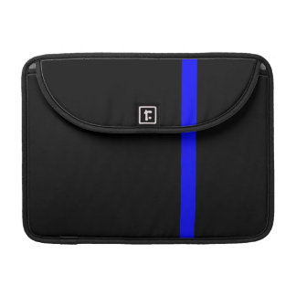 The Symbolic Thin Blue Line Vertical Black MacBook Pro Sleeve