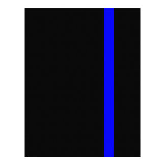 The Symbolic Thin Blue Line Vertical Letterhead