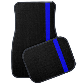 The Symbolic Thin Blue Line Vertical Style Car Floor Mat