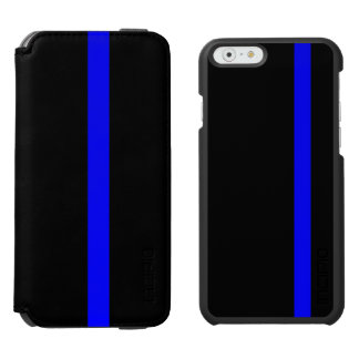 The Symbolic Thin Blue Line Vertical Style iPhone 6/6s Wallet Case