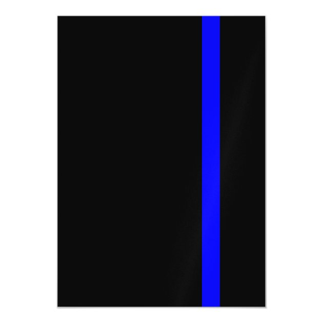 The Symbolic Thin Blue Line Vertical Style Magnetic Card | Zazzle