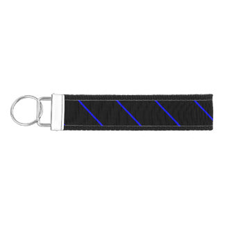 The Symbolic Thin Blue Line Vertical Wrist Keychain