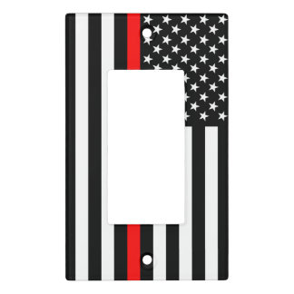 The Symbolic Thin Red Line American Flag on a Light Switch Cover