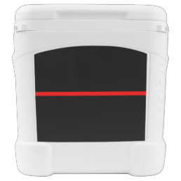 The Symbolic Thin Red Line Horizontal Black Rolling Cooler