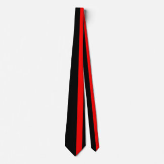 The Symbolic Thin Red Line on a black decor Tie