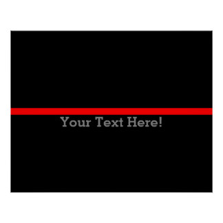 The Symbolic Thin Red Line Personalize This Poster