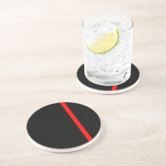 The Symbolic Thin Red Line Vertical Drink Coaster