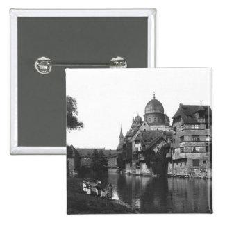 The synagogue at Nuremberg, c.1910 Pinback Button