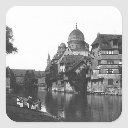 The synagogue at Nuremberg, c.1910 Stickers