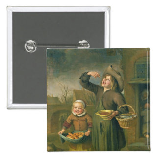 The Syrup Eater 2 Inch Square Button