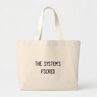 the system's fscked jumbo tote bag