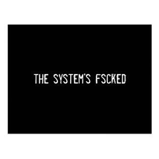 the system's fscked postcard