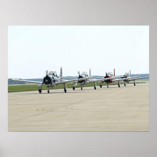 The T-28 Warbird Aerobatic Demonstration Team. Poster