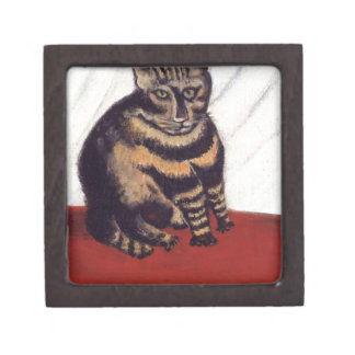 The Tabby by Henri Rousseau Jewelry Box