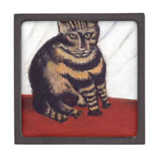 The Tabby by Henri Rousseau Keepsake Box