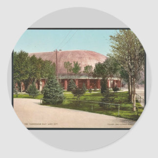 The Tabernacle, Salt Lake City classic Photochrom Classic Round Sticker