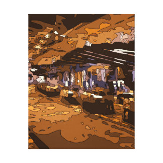 The Table Games of a Luxurious Vegas Casino Gallery Wrap Canvas