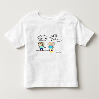 The table has turned, toddler twofer tee