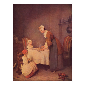 The table prayer by Jean Chardin Posters