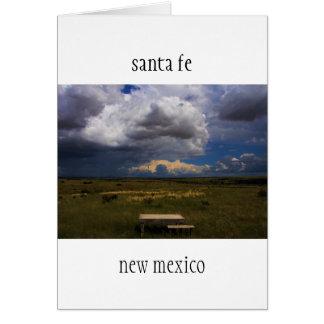 the table,  santa fe new mexico card