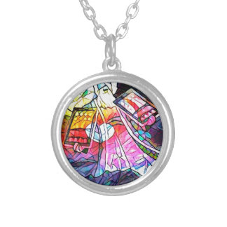 The Tablets of Moses Round Pendant Necklace