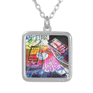 The Tablets of Moses Square Pendant Necklace