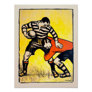 The Tackle - Vintage Rugby Print