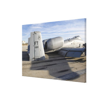 The tail section of an A-10 Thunderbolt II Canvas Print