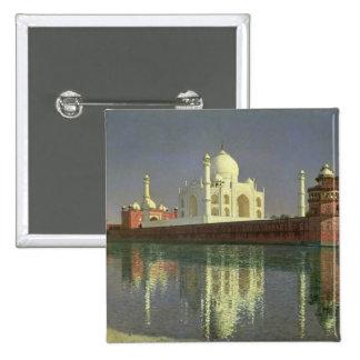 The Taj Mahal, 1874-76 2 Inch Square Button