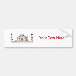 The Taj Mahal: 3D Model: Car Bumper Sticker