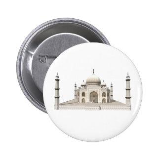 The Taj Mahal: 3D Model: 2 Inch Round Button