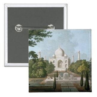 The Taj Mahal, Agra, from the Garden 2 Inch Square Button