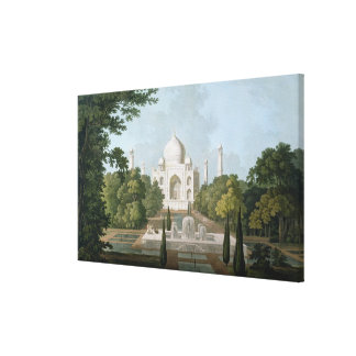 The Taj Mahal, Agra, from the Garden Canvas Print