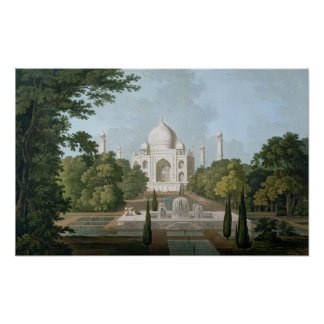 The Taj Mahal, Agra, from the Garden Poster