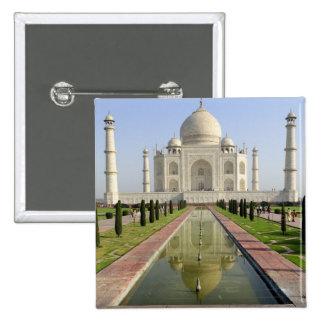 The Taj Mahal, Agra, Uttar Pradesh, India, 2 Inch Square Button