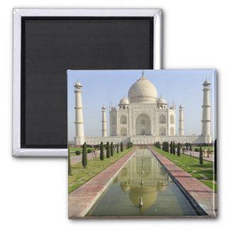 The Taj Mahal, Agra, Uttar Pradesh, India, 2 Inch Square Magnet