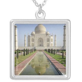 The Taj Mahal, Agra, Uttar Pradesh, India, Square Pendant Necklace