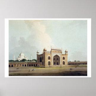The Taj Mahal at Agra, from 'Oriental Scenery: Twe Poster