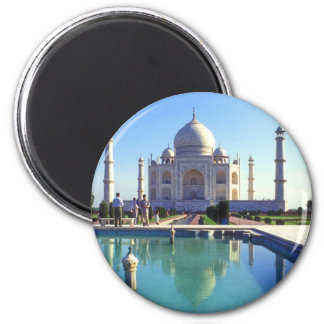 The Taj Mahal at Agra India Fridge Magnet