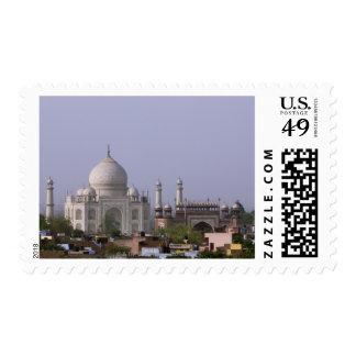 the Taj Mahal dominates the town of Agra Postage