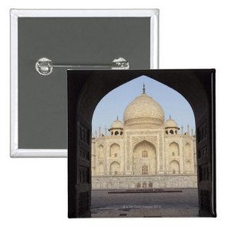 the Taj Mahal framed in the Mehmankhana doorway Pinback Button