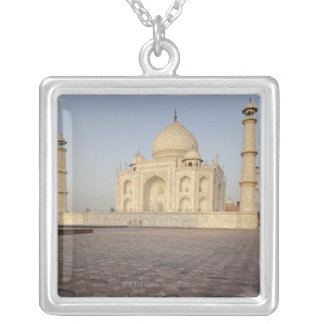 The Taj Mahal from Mehmankhana (guest house) Silver Plated Necklace