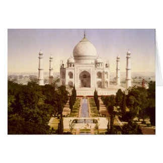 The Taj Mahal in Agra India Card