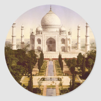 The Taj Mahal in Agra India Classic Round Sticker