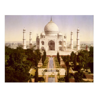 The Taj Mahal in Agra India Postcard