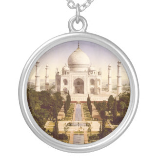 The Taj Mahal in Agra India Silver Plated Necklace