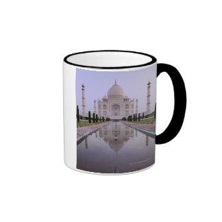the Taj Mahal perfectly reflected in the pool in Coffee Mug