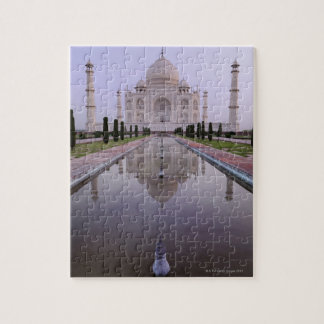 the Taj Mahal perfectly reflected in the pool in Puzzle