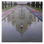 The Taj Mahal perfectly reflected in the still 2 Ceramic Tiles
