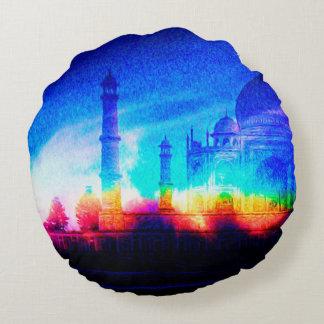 The Taj Mahal Round Pillow